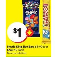 Nestle King Size Bars or Snax