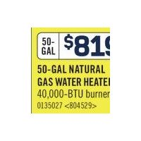 Giant Natural Gas Water Heater - 50 Gal