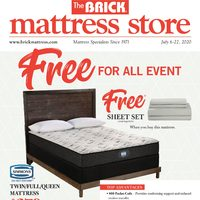 The Brick - Mattress Store - Free For All Event Flyer