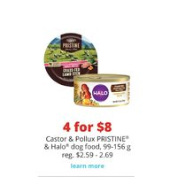 Castor & Pollux Pristine & Halo Dog Food