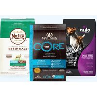 Wellness, Nulo MedalSeries & Nutro Wholesome Essentials Dog Food