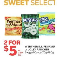 Werther's, LIfe Savers or Jolly Rancher Bagged Candy
