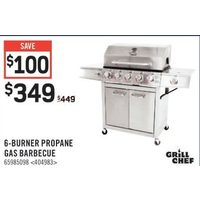 Grill Chef 6-Burner Propane Gas Barbecue