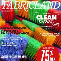 Fabricland - Clean Sweep Sale Flyer