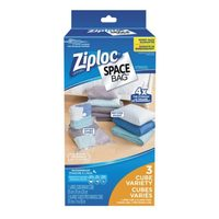 Ziploc Vacuum Seal Space Bags Pack, Cube