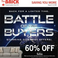The Brick - Saving You More - Battle of The Buyers Flyer