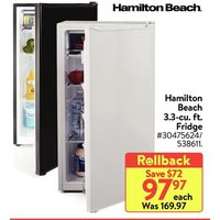 Hamilton Beach 3.3-Cu. Ft. Fridge