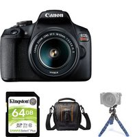 Canon EOS Rebel T7 Camera Body With EF-S 18-55MM F/3.5-5.6 IS II Lens Kit, Mini Tripod, 64GB Memory Card And Compact Bag