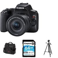Canon EOS Rebel SL3 DSLR With EF-S 18-55mm IS STM Kit, Tripod, 64GB Memory Card And Canon 800SR Medium Size DSLR And Accessory Bag