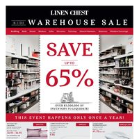 Linen Chest - In-Store Warehouse Sale Flyer