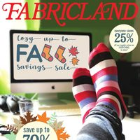 Fabricland - Cozy Up To Fall Savings Sale Flyer