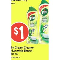 Vim Cream Cleaner Or Lac With Bleach