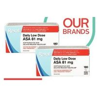 Rexall Brand ASA Coated Daily Low Dose Tablets