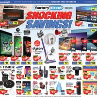 Factory Direct - Shocking Savings! Flyer