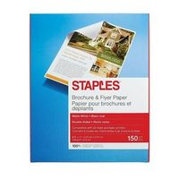 Staples Brochure and Flyer Paper