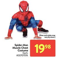 Spider-Man Muscle Chest Costume
