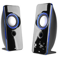 Cyber 2.0 Bluetooth Speaker System and Colour LED Lighting Effects