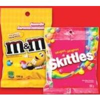M&M's or Mars Chocolate or Skittles Starburst Candy Bags