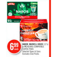 Nabob, Maxwell House Or Pc Keurig Compatible Coffee Pods
