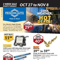 Princess Auto - 2 Week Sale - Cool Weather, Hot Deals! Flyer