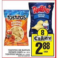 Tostitos Or Ruffles Potato Chips, Tostitos Salsa