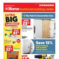 Home Hardware - Building Centre - The Paint & Renovation Sale Flyer