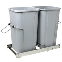 "Real Solutions 18.75"" x 11"" x 22"" Cabinet Pull-Out Soft-Close Trash Can"
