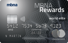 MBNA Rewards World Elite® Mastercard® credit card