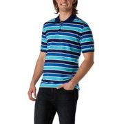 Denver Hayes - Modern Fit Everyday Short-sleeve Repeating Stripe Polo - $14.88