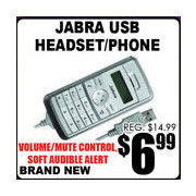 Jabra USB Headset/Phone - $6.99