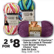 Michaels: Loops & Threads Impeccable & Charisma Yarn, Lion