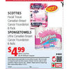 Scotties Facial Tissue Canadian Breast Cancer Foundation, Spongetowels Ultra Canadian Breast Cancer Foundation - $4.99/with coupon