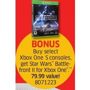 Free Star Wars Battle-front for Xbox One with Purchase