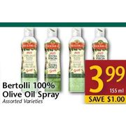 Bertolli 100% Olive Oil Spray  - $3.99/155 ml ($1.00 off)
