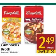 Campbell's Broth  - $2.49/900 ml ($1.00 off)