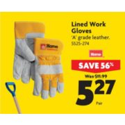 Lined Work Gloves - $5.27 (56% off)