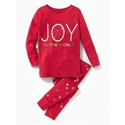 "2-piece ""joy To The World"" Graphic Sleep Set For Toddler & Baby - $17.50 ($2.44 Off)"