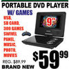 Portable DVD Player W/Games - $59.99