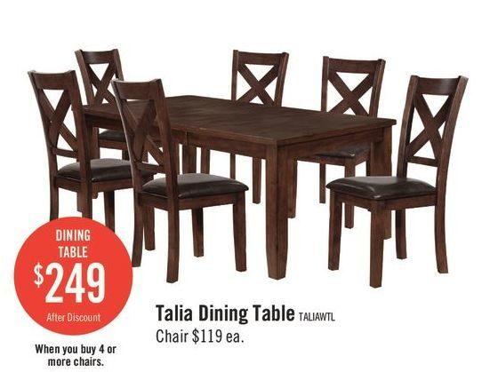 The Brick Talia Dining Table Redflagdeals Com