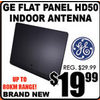 GE Flat Panel HD50 Indoor Antenna - $19.99