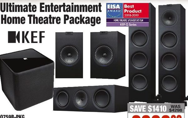 2001 Audio Video: KEF Ultimate Entertainment Home Theatre Package
