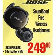 Bose Sound Sport Free Wireless Headphones - $249.00