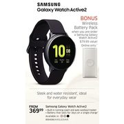 Samsung Galaxy Watch Active2 - From $369.99