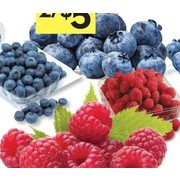 Blueberries or Raspberries - 2/$5.00