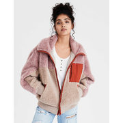 Ae Sherpa Color Block Bomber Jacket - $39.98 ($59.97 Off)