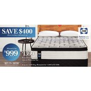 Sealy Rose Petal Eurotop Queen Mattress Set - $1399.00