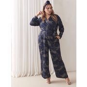 Maxi Belted Jumpsuit - Addition Elle - $14.98 ($14.99 Off)