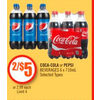 Coca-Cola Or Pepsi Beverages - 2/$5.00