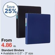 Standard Binders - From $4.86 (25% off)