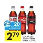 Coca Cola Soft Drinks - $2.79